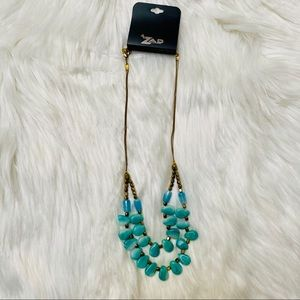 ZAD Jewelry double strand turquoise necklace